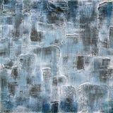 Tappningbakgrund på texturerat tyg i skuggor av blått Royaltyfri Bild