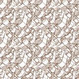 Tappningband och snirklar Seamless modell för Wallpaper Royaltyfri Bild