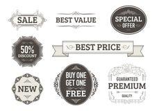 Tappningbaner, etiketter för affärer stock illustrationer