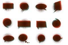 Tappningbaner för logo eller tecken Arkivfoto