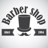 Tappningbarberaren shoppar emblemet, märker, förser med märke, logoen Royaltyfri Foto
