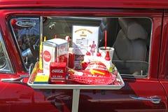 Tappningbil med klassiskt drev i mat Royaltyfri Bild