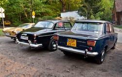 Tappningbilar på en bilshow Arkivfoto