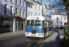Tappningbild av bussen i Jersey Fotografering för Bildbyråer