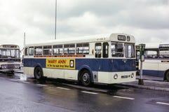 Tappningbild av bussen i Jersey Royaltyfri Bild