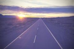 Tappningbild av den berömda vägen, rutt 40, Patagonia, sydlig Ar Arkivbilder