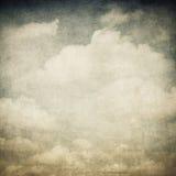 Tappningbild av molnig himmel royaltyfri foto
