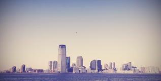 Tappningbild av New York City, gammal retro stil Arkivbild