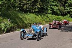 Tappningbilen samlar abc:et 1929 i Mille Miglia 2016 Fotografering för Bildbyråer