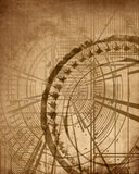 Tappningblåtttryck Arkivbild