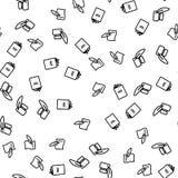 Tappningbok och att befjädra den sömlösa modellvektorn royaltyfri illustrationer