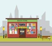 Tappningbokhandel Plan stil Royaltyfria Bilder
