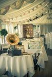 Tappningbröllop och gramaphone Royaltyfria Bilder