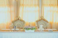 Tappningbröllopgarnering arkivfoton