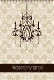 Tappningbröllopinbjudan royaltyfri illustrationer