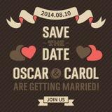 Tappningbröllopinbjudan Royaltyfri Fotografi