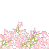 Tappningbröllopinbjudan med färgrika rosa färger fjädrar blommor Ve Royaltyfria Bilder