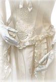 Tappningbröllopsklänning royaltyfri foto
