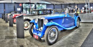 Tappningbritten byggde MG sportbilen Arkivfoton