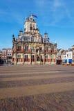 Tappningbyggnad av stadshuset, Delt, Holland Royaltyfria Bilder