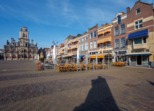 Tappningbyggnad av stadshuset, Delt, Holland Arkivfoto