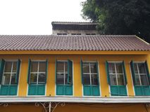 Tappningbyggnad i Kota Tua Arkivfoton
