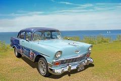 Tappningchevrolet lynnig blå klassisk bil Royaltyfri Bild