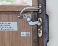 Tappningdörr på drevrummet Royaltyfria Foton