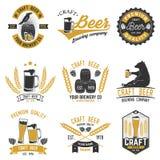 Tappningdesign för stång-, bar- och restaurangaffär stock illustrationer