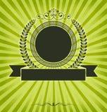 Tappningdesignmall med etiketten Arkivfoto