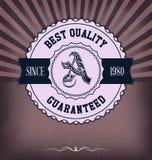 Tappningdesignmall med etiketten Royaltyfria Foton