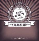 Tappningdesignmall med etiketten Arkivbild
