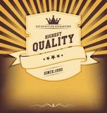 Tappningdesignmall med etiketten Royaltyfri Bild