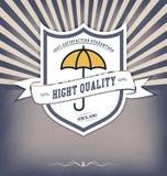 Tappningdesignmall med etiketten Royaltyfria Bilder