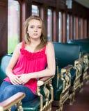 Tappningdrev för tonårs- flicka Arkivbilder
