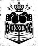 Tappningemblem för att boxas royaltyfri illustrationer