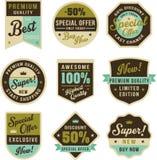 Tappningemblem och etiketter stock illustrationer