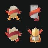 Tappningemblem - realistetikett - garnering Arkivbild