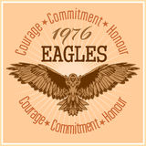 Tappningetikett Eagle - Retro emblem Royaltyfria Bilder