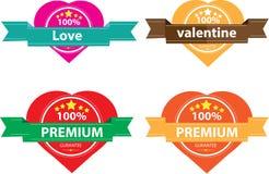 Tappningetikett för förälskelse och lyckligt stock illustrationer