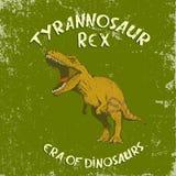 Tappningetikett med dinosaurien royaltyfria foton