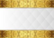 Tappningetikett och mörk guld- bakgrund Royaltyfri Fotografi