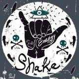 Tappningetikett, Shaka Style Typografivektorbeståndsdelar Arkivfoton