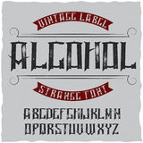 Tappningetikett stilsort namngav Alkohol Royaltyfria Bilder