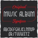 Tappningetikett stilsort namngav Musik Album Royaltyfri Fotografi