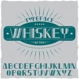 Tappningetikett stilsort namngav Whisky Royaltyfri Foto