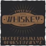 Tappningetikett stilsort namngav Whisky Arkivbilder