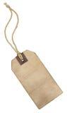 Tappningetiketten med stränger. Royaltyfri Fotografi