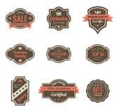Tappningetiketter. stock illustrationer
