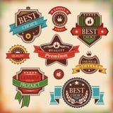 Tappningetiketter och emblem Royaltyfri Foto